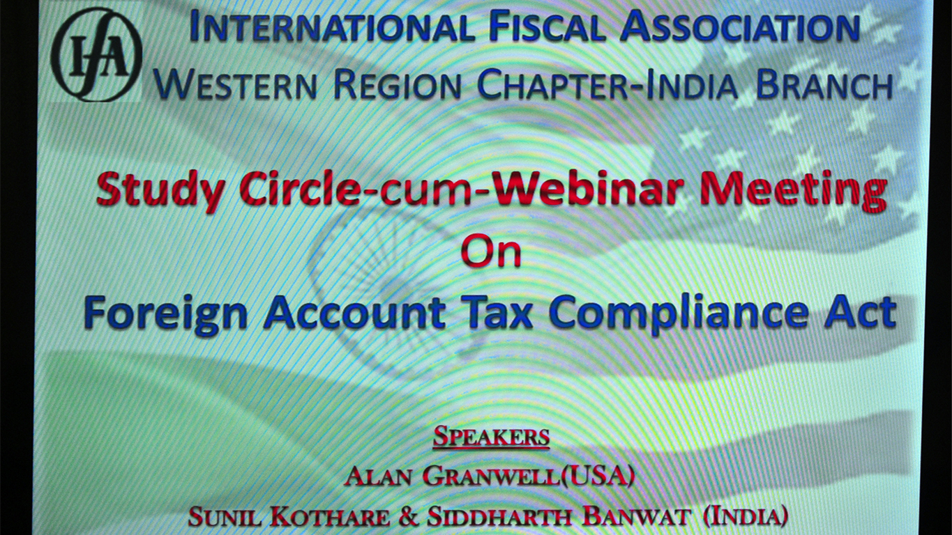 Study Circle-cum-Webinar Meeting on FATCA on 7th August 2015